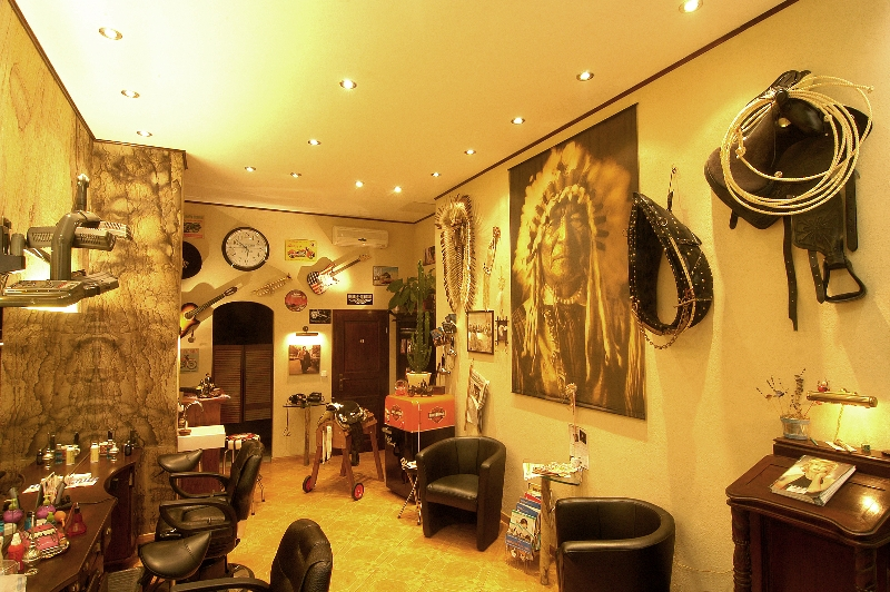 Barbershop Laden innen